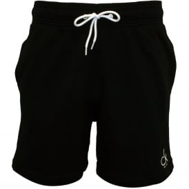 CK NYC Cotton Terry Track Shorts, Black