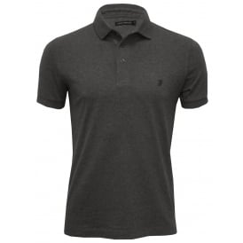Classic Jersey Polo Shirt, Charcoal Melange