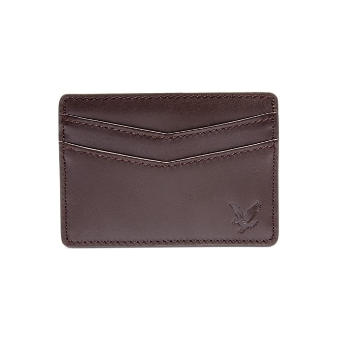 Lyle & Scott Classic Vintage Leather Cardholder, Dark Brown