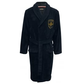 College Prep Towelling Bathrobe Navy