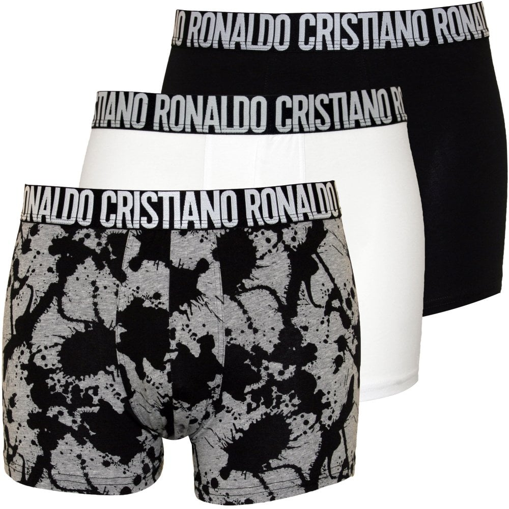 06188c8f CR7 3-Pack Boxer Trunks, Black | Cristiano Ronaldo Underwear | UnderU