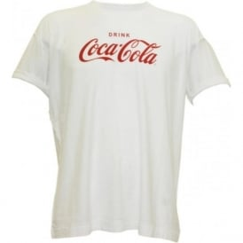 Loose Fit Coca Cola Logo T-Shirt, White