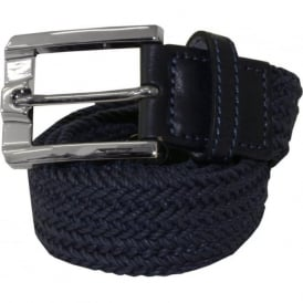 Navy Rope Leather Belt