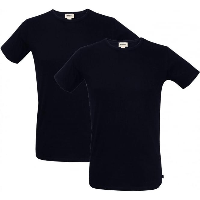 Diesel 2-Pack The Essential Crew-Neck T-Shirts, Navy