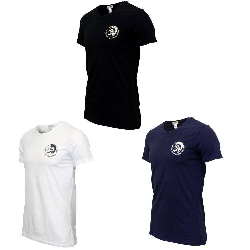 31d71409 Diesel 3-Pack All-Timers Crew-Neck T-Shirts, Black/White/Navy   UnderU