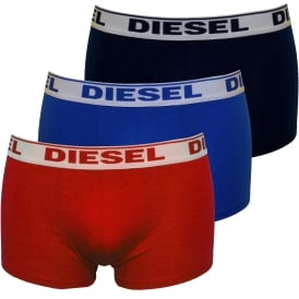 3-Pack Boxer Trunks, Blue/Navy/Red