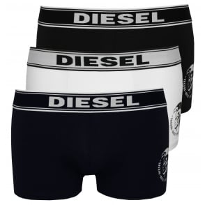 3-Pack Mohawk Logo Boxer Trunks, Navy/White/Black