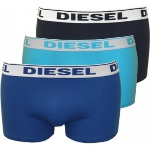 3-Pack Shawn Boxer Trunks, Royal/Navy/Turquoise