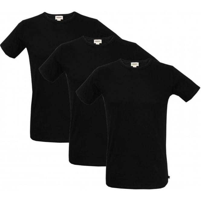 Diesel 3-Pack The Essential Crew-Neck T-Shirts, Black