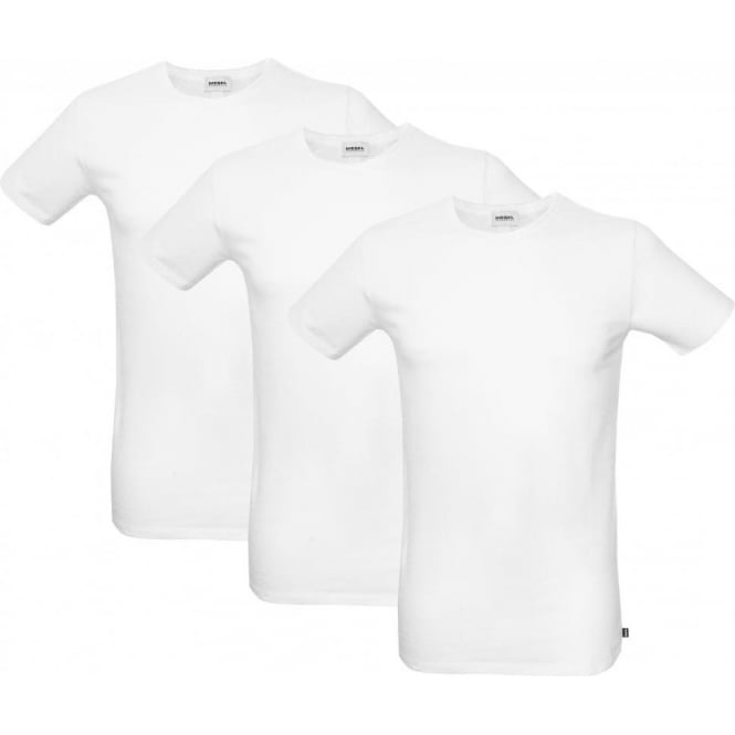 Diesel 3-Pack The Essential Crew-Neck T-Shirts, White