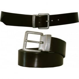 Beres Leather Belt, Chocolate Brown