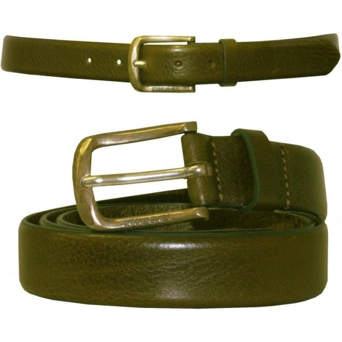 Diesel Bimiti Narrow Chino Leather Belt, Tan