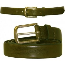 Bimiti Narrow Chino Leather Belt, Tan