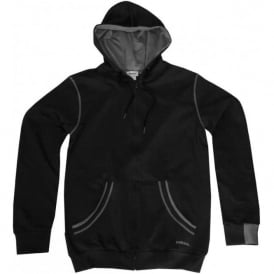 Brandon Zip-Through Hoodie, Black