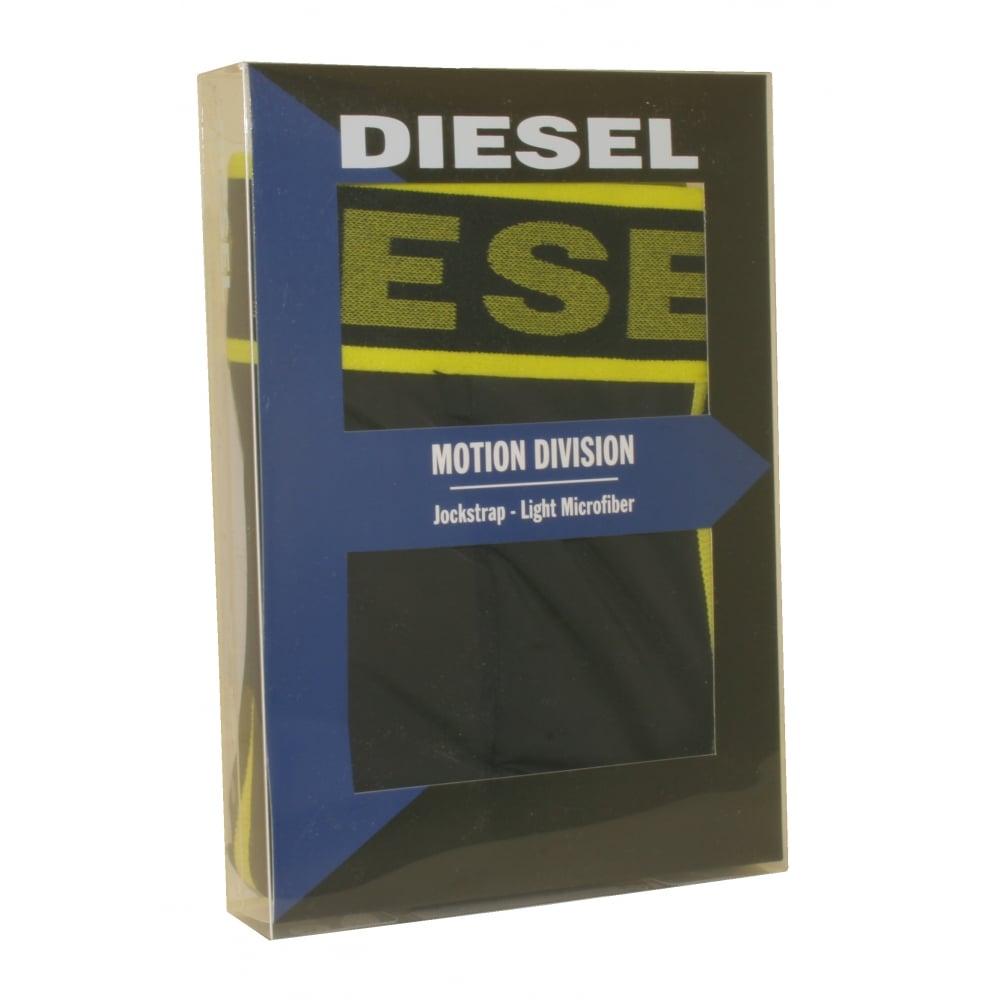 9e2f18436298 Diesel Microfibre Jockstrap, Black   Diesel men's jockstraps   UnderU