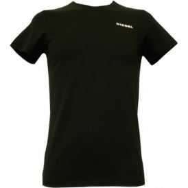 Crew Neck T-Shirt, Caviar Black