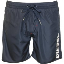 Diesel Side Logo Swim Shorts, Navy