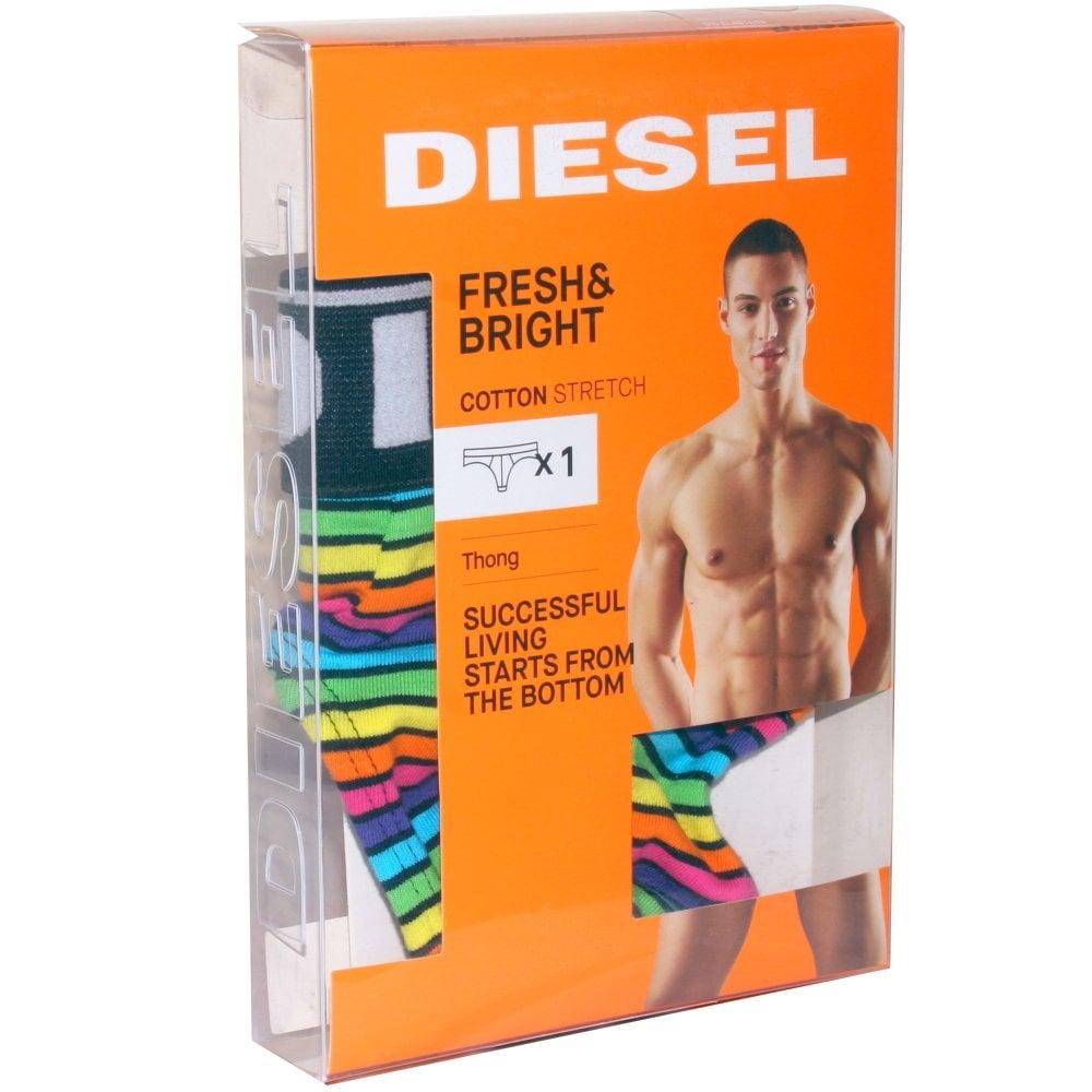 d9b4ae311f30 Diesel Rainbow Stripe Thong, Multicolour | Diesel men's thong | UnderU