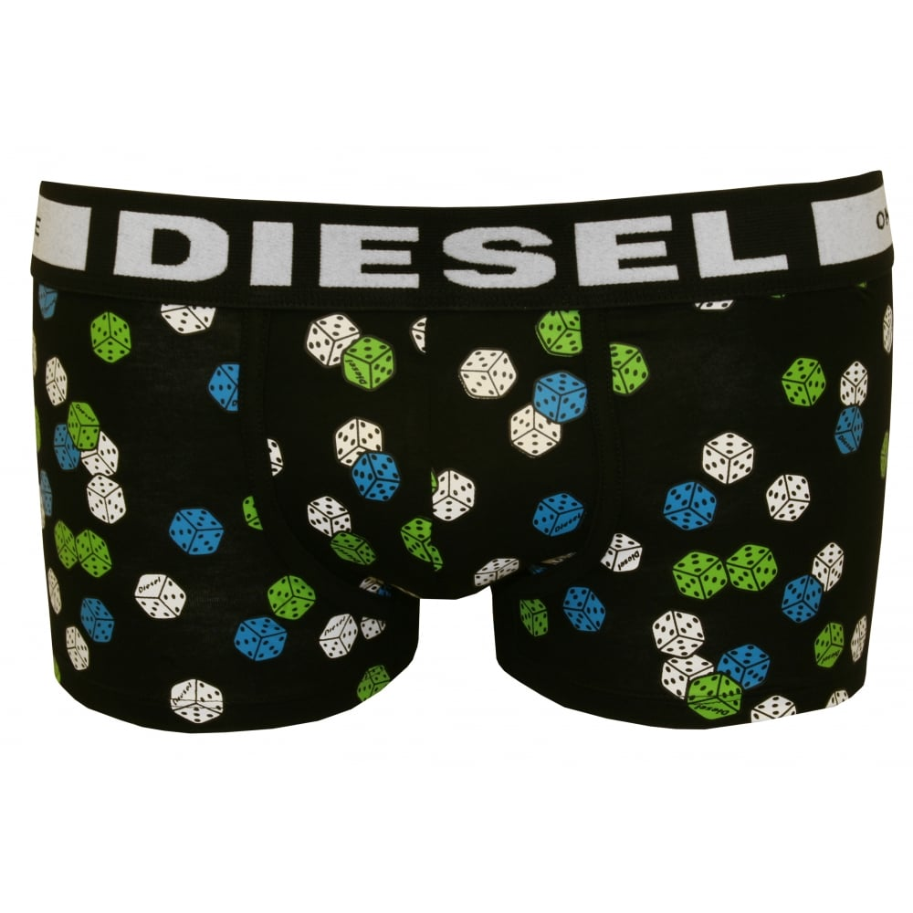 Hero-Fit Lucky Dice Boxer Trunk, Black