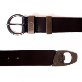 """Ibrokeit"" Leather Belt, Black"