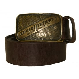 Industry Denim Division Flagery Leather Belt, Chocolate Brown