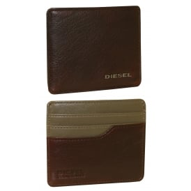 Johnas Leather Cardholder, Brown with khaki interior