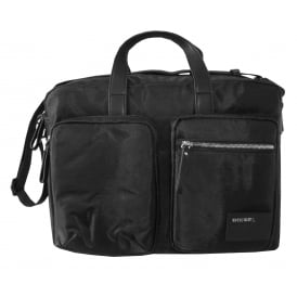 "Men's ""Crash"" Briefcase Bag, Black"