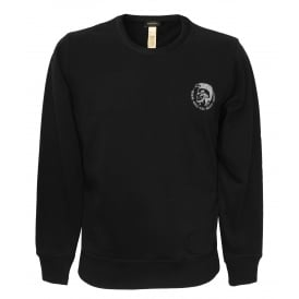 Mohawk Logo Crew-Neck Sweatshirt, Black