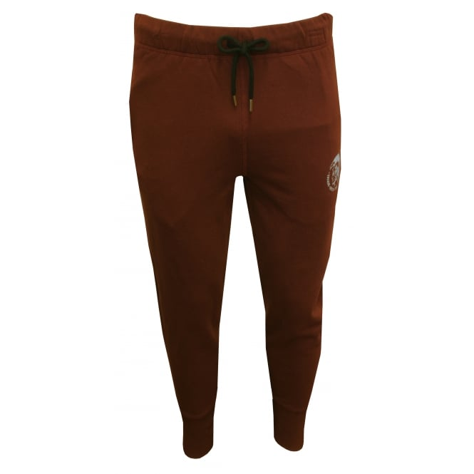Diesel Mohawk Logo Jogging Bottoms, Burgundy