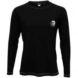 Mohawk Logo Long-Sleeve Jersey T-Shirt, Black
