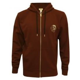 Mohawk Logo Zip-Through Hoodie, Burgundy