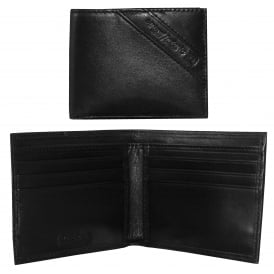 Neela XS Logo Inset Leather Wallet, Black
