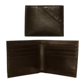 Neela XS Logo Inset Leather Wallet, Chocolate Brown