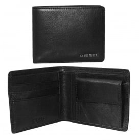 New Hiresh Small Leather Coin-Pocket Wallet, Black