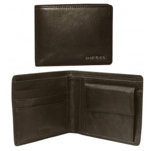 New Hiresh Small Leather Coin-Pocket Wallet, Brown