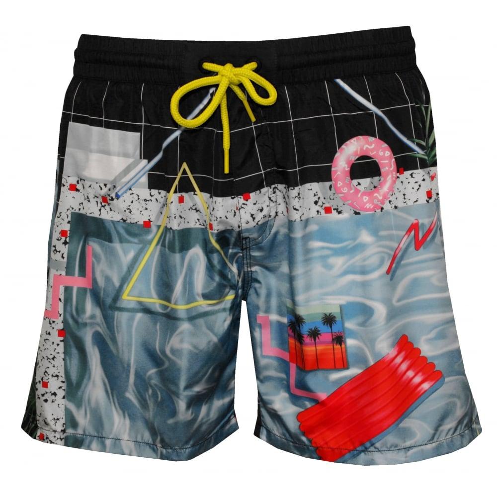 a8dc817f6986a Diesel Poolside Photographic Print Swim Shorts, Blue | UnderU
