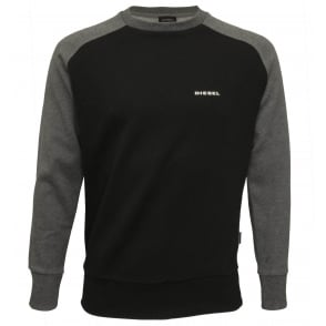 Premium Logo Crew-Neck Sweatshirt, Black/grey