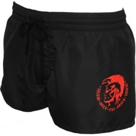 Sandy Mohawk Swim Shorts, Black