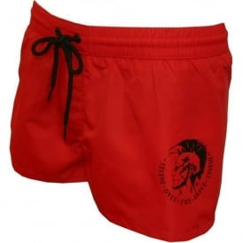 Sandy Mohawk Swim Shorts, Red