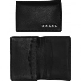 Small Leather Cardholder / Oyster Card Wallet, Black