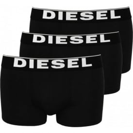 The Essential 3-Pack Cotton Boxer Trunks, Black