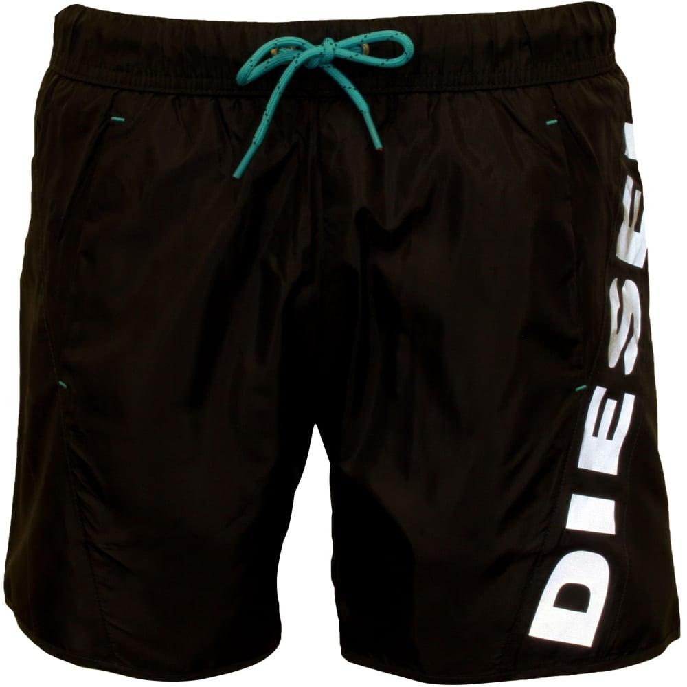 55060a210f21e Diesel Twisted Side Logo Swim Shorts, Blue | UnderU