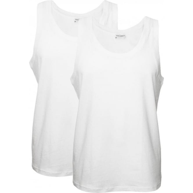 Dolce & Gabbana Day By Day Bi-Pack Vest Tops, White