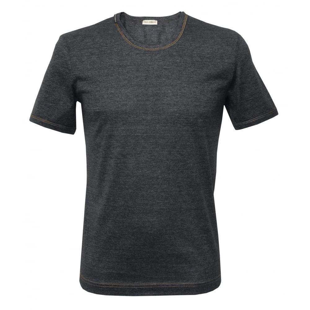 e80c540672b Dolce & Gabbana Filo di Scozia Cotton T-Shirt, Denim-effect Blue ...