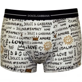 #Love #Family #D&G Boxer Trunk, White