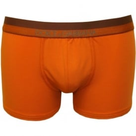 Pima Stretch Cotton Boxer Trunk, Orange