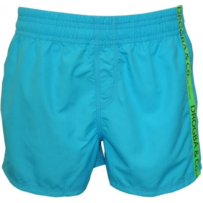 Drogba & Co. by HOM Beach Boxer Swim Shorts, Turquoise