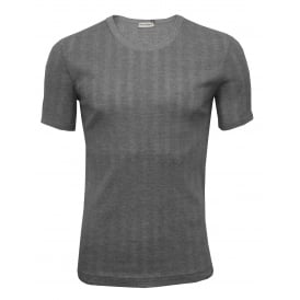 Drop Needle Modal Cotton Crew-Neck Branded T-Shirt, Grey
