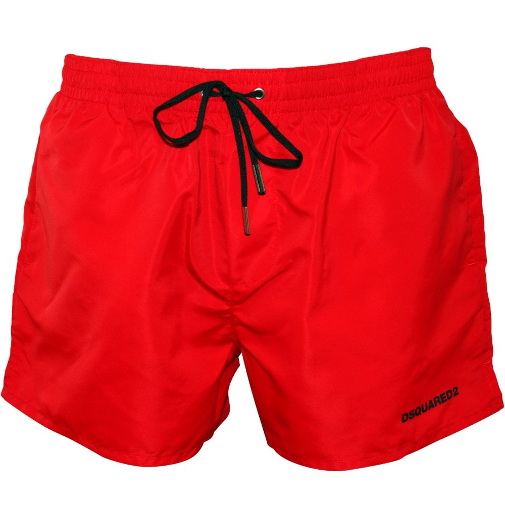 7d25291e6f DSquared2 ICON Logo Swim Shorts, Red/black | UnderU