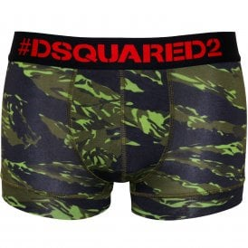 c6ffb4b0314e6d #Logo Camo Print Boxer Trunk in Modal Stretch, Military Green